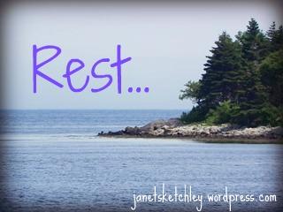 rest: tranquil ocean scene